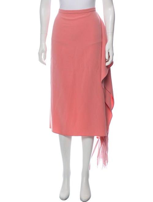 Tibi 2018 Fringe Skirt Pink - image 1