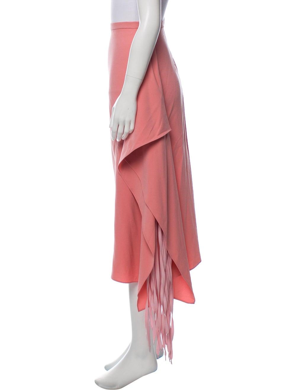 Tibi 2018 Fringe Skirt Pink - image 2