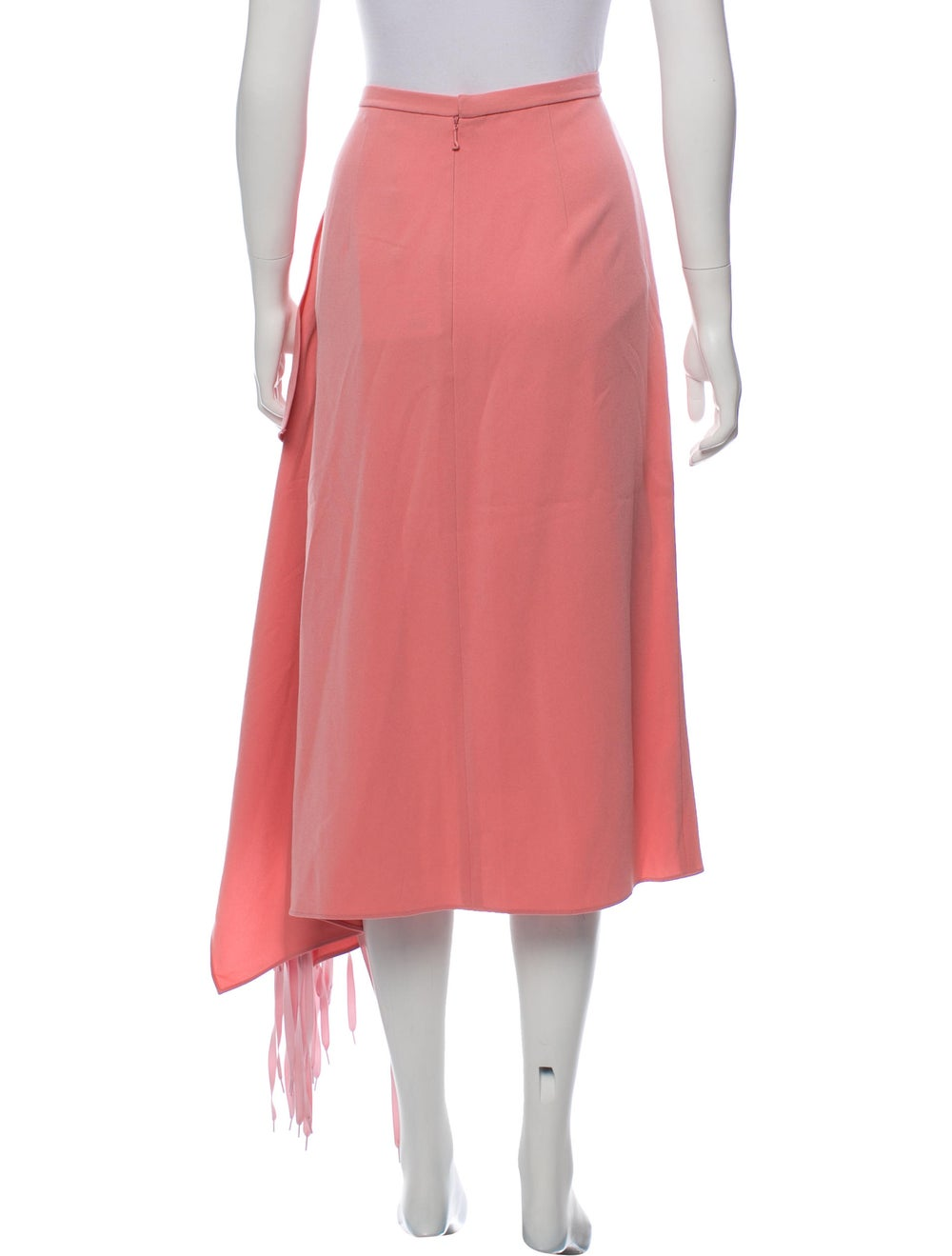 Tibi 2018 Fringe Skirt Pink - image 3