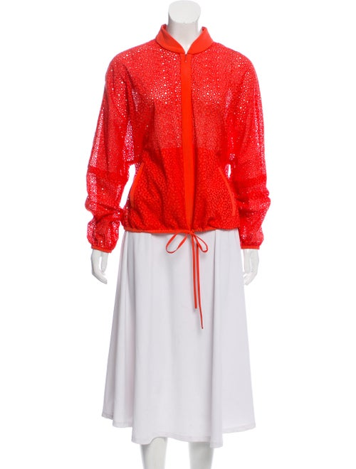Tibi Eyelet Dolman-Sleeve Jacket Orange