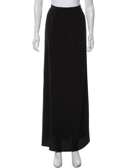 Tibi Silk Long Skirt Black