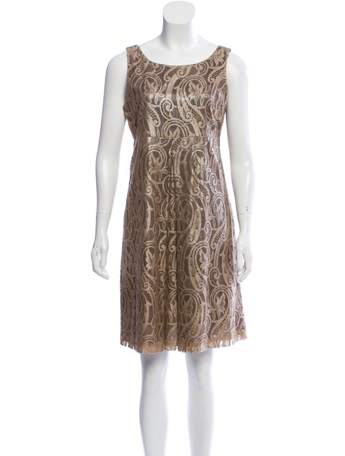 Tibi Lace Pattern Knee-Length Dress