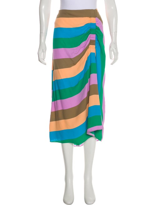 Tibi Striped Midi Length Skirt