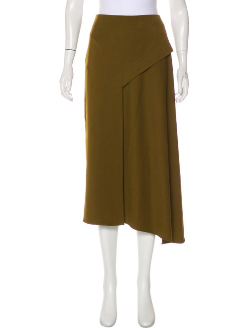 Tibi Midi Length Skirt Green