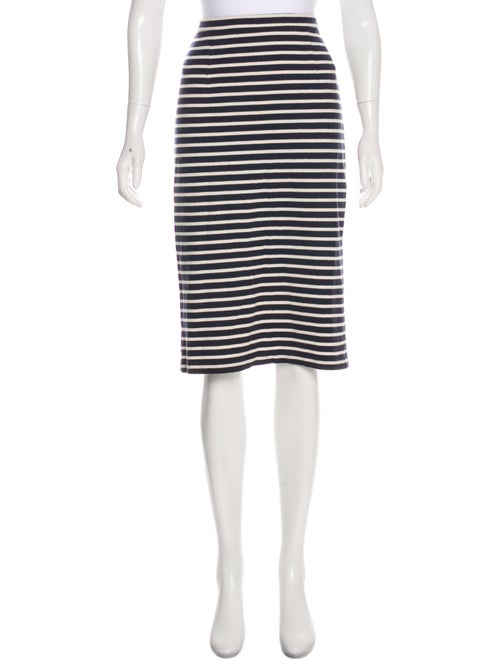 Tibi Striped Pencil Skirt Navy