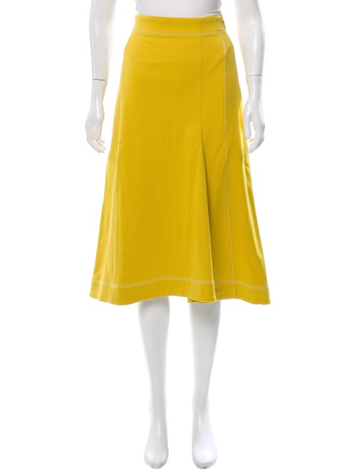 Tibi Midi Length Skirt Yellow
