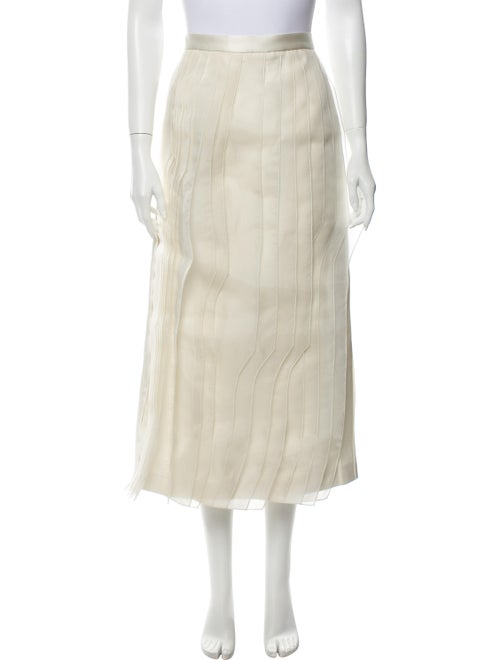 Tibi Midi Length Skirt w/ Tags White