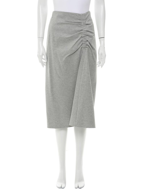 Tibi Midi Length Skirt Grey