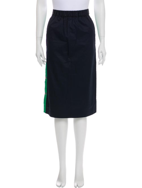 Tibi Knee-Length Skirt Blue