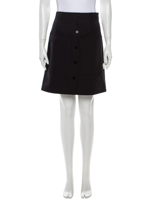 Tibi Knee-Length Skirt Black