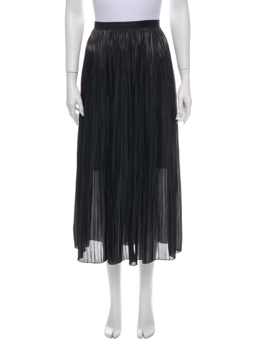 Tibi Pleated Accents Midi Length Skirt Blue