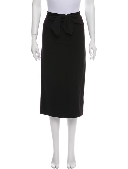 Tibi Midi Length Skirt Black
