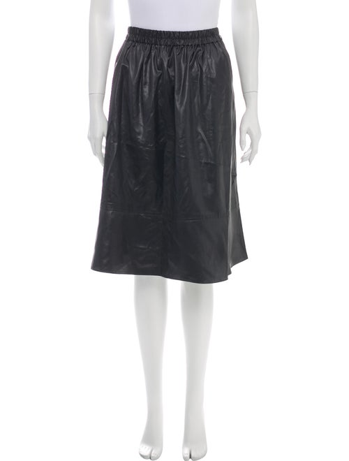 Tibi Knee-Length Skirt w/ Tags Black