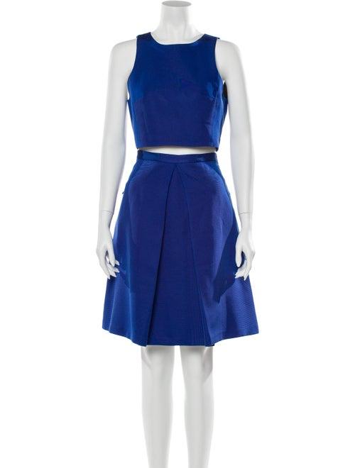 Tibi Pleated Accents Skirt Set Blue
