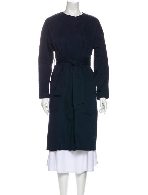 Tibi Trench Coat Blue