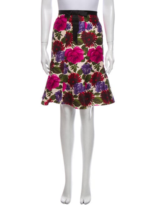 Tibi Silk Knee-Length Skirt