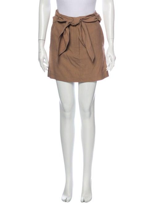 Tibi Mini Skirt Brown