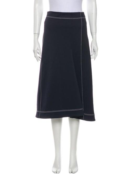 Tibi Midi Length Skirt w/ Tags Blue