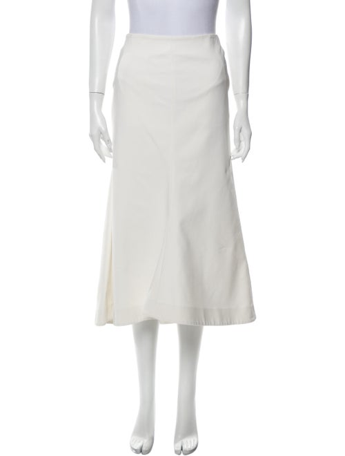 Tibi Midi Length Skirt White