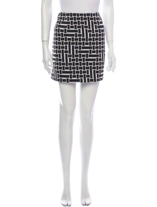 Tibi Printed Mini Skirt Black