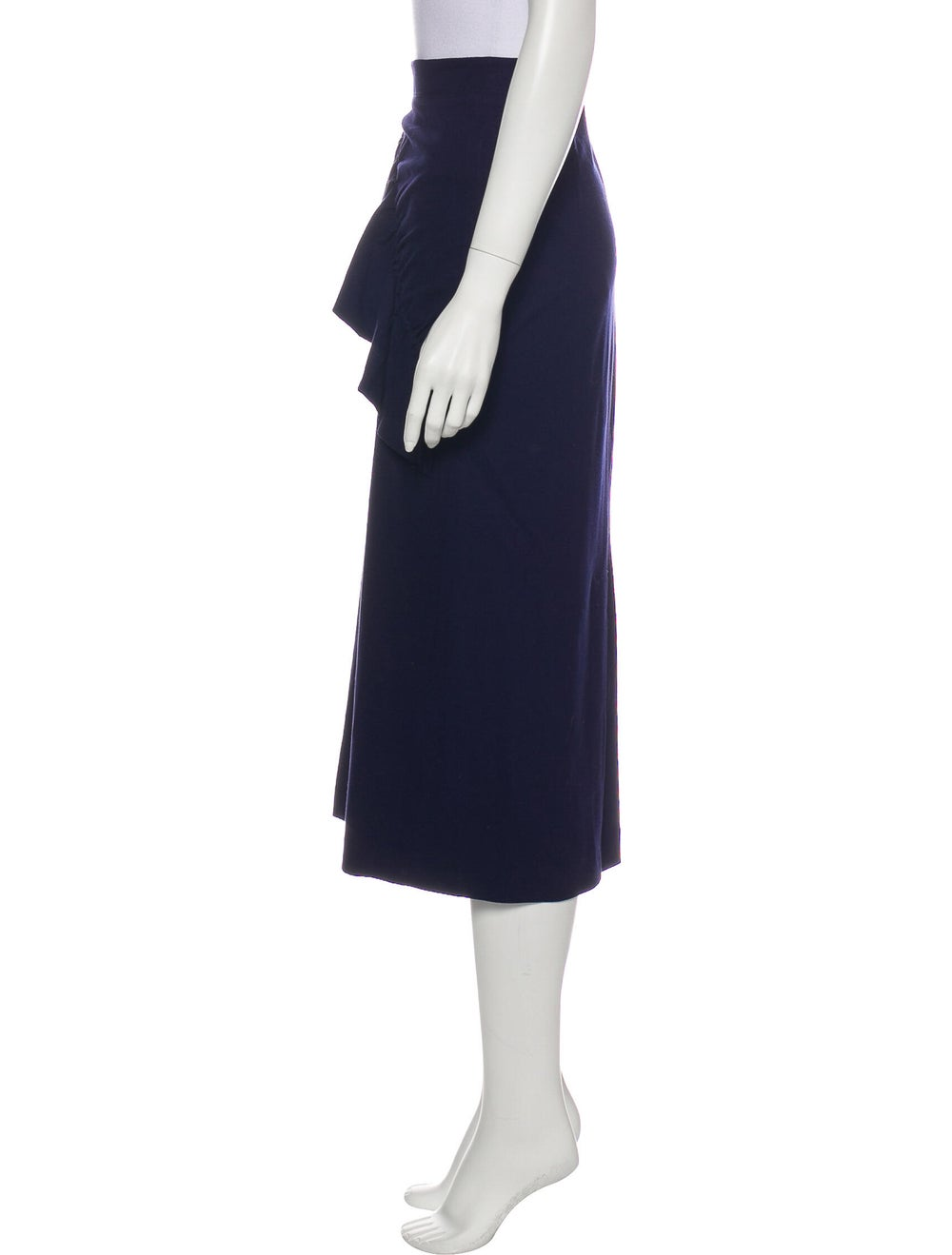 Tibi Ruffle Embellishment Midi Length Skirt Blue - image 2
