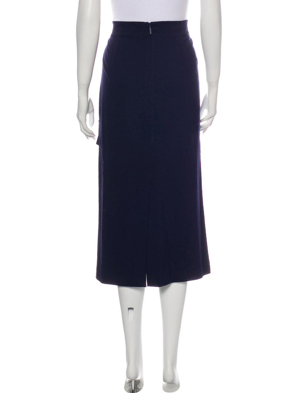 Tibi Ruffle Embellishment Midi Length Skirt Blue - image 3