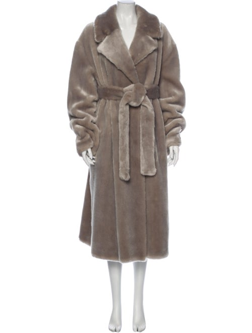 Tibi Faux Fur Coat Grey
