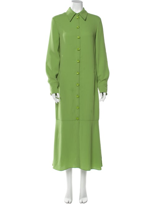 Tibi Long Dress Green