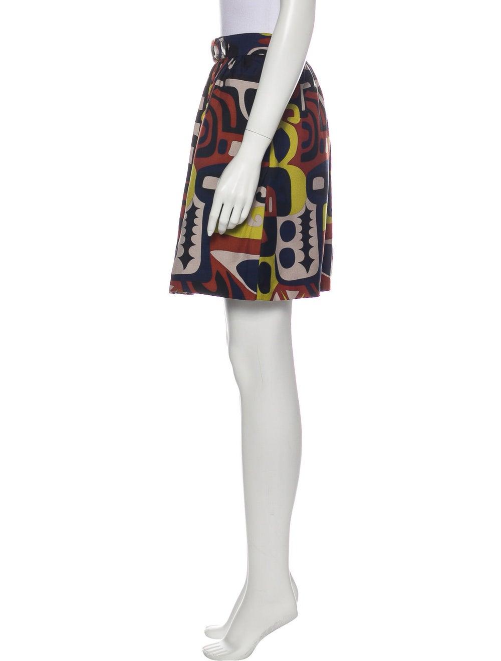 Tibi Silk Mini Skirt - image 2