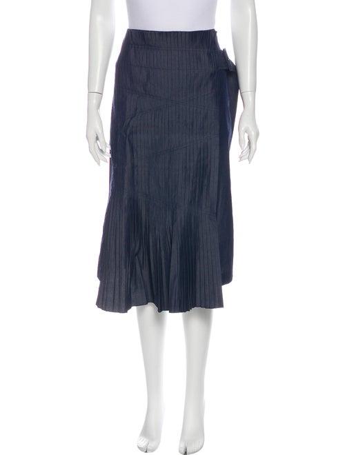 Tibi Knee-Length Skirt Blue