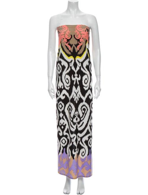 Tibi Printed Long Skirt White