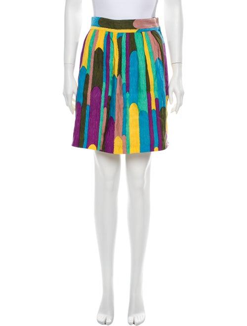 Tibi Silk Mini Skirt Yellow