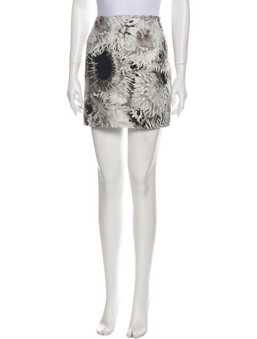 Tibi Floral Print Mini Skirt w/ Tags Grey - image 1