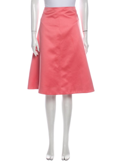Tibi Knee-Length Skirt Pink
