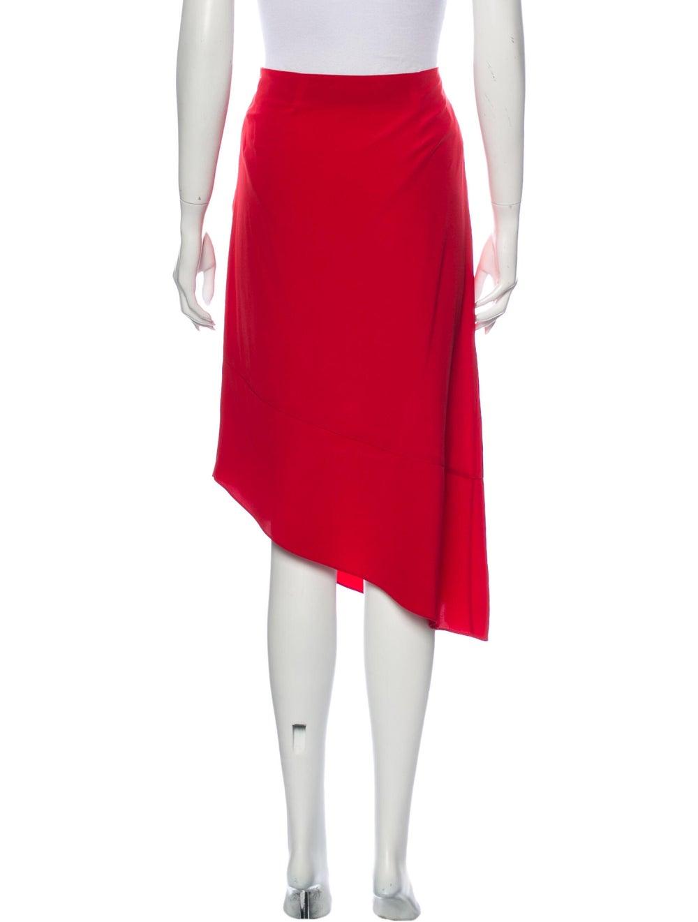 Tibi Silk Midi Length Skirt Red - image 3