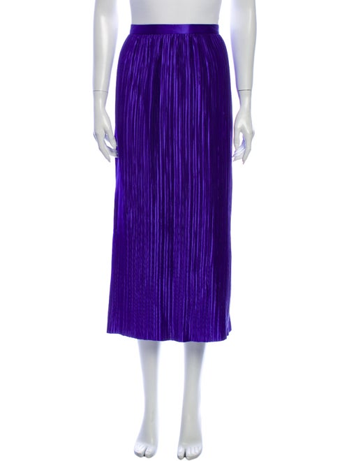 Tibi Striped Midi Length Skirt Purple - image 1