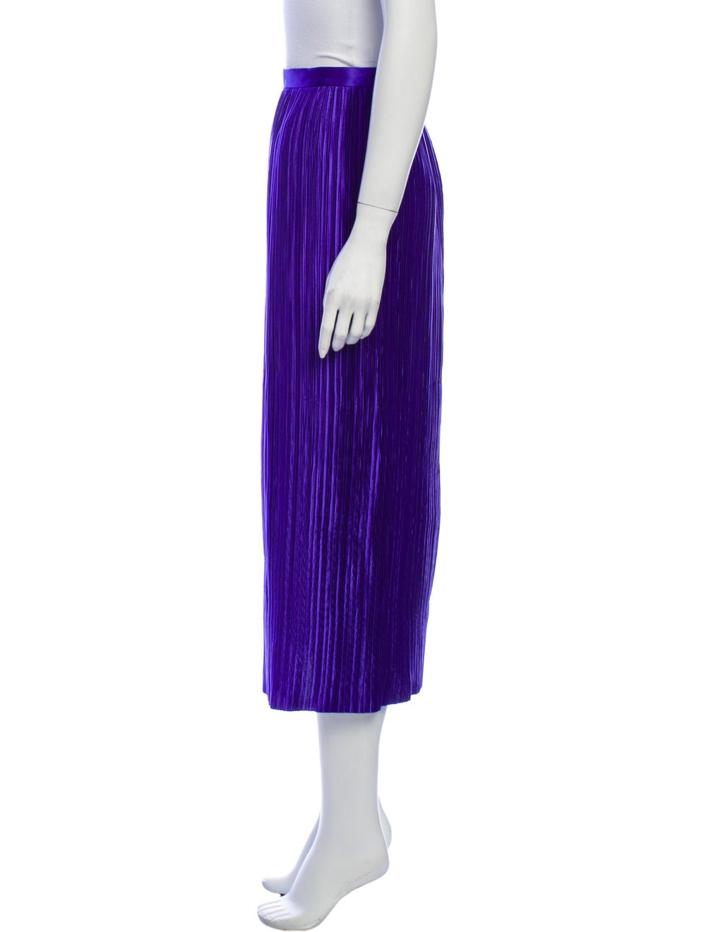 Tibi Striped Midi Length Skirt Purple - image 2
