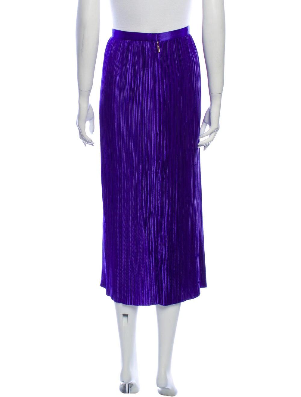 Tibi Striped Midi Length Skirt Purple - image 3
