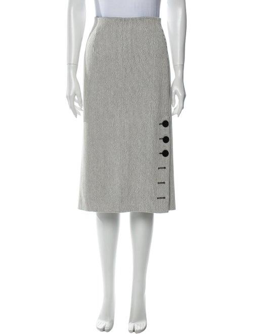 Tibi Striped Knee-Length Skirt White