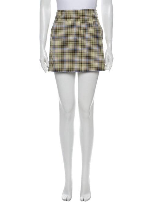 Tibi Plaid Print Mini Skirt w/ Tags Green