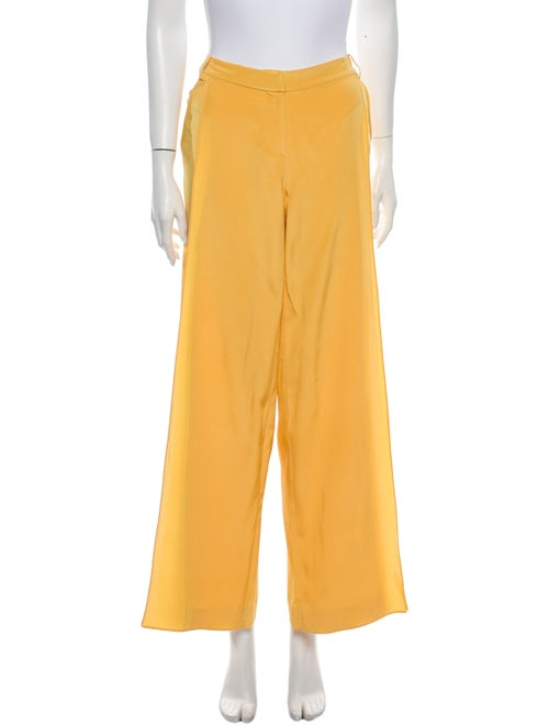 Tibi Wide Leg Pants Yellow
