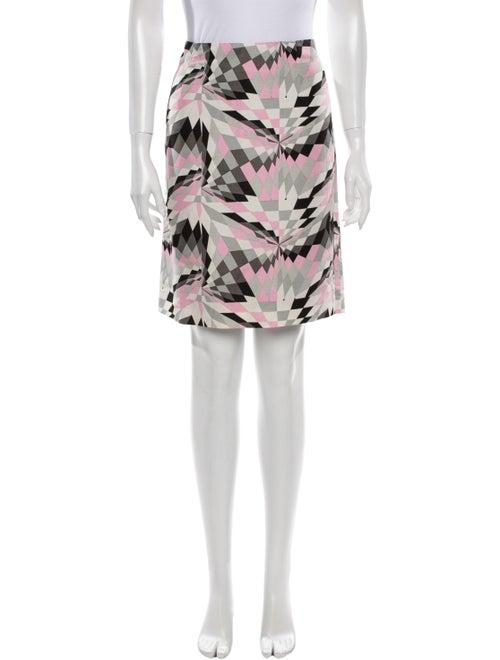 Tibi Silk Knee-Length Skirt Grey
