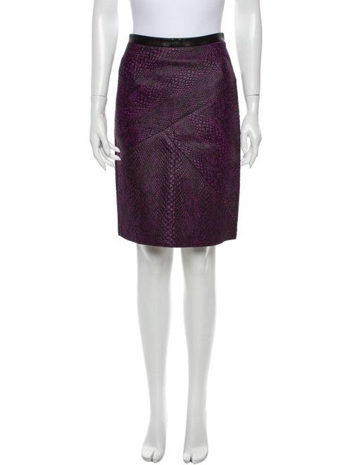Tibi Knee-Length Skirt Purple