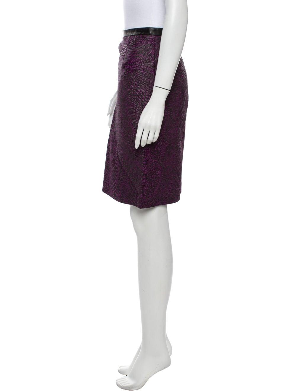 Tibi Knee-Length Skirt Purple - image 2