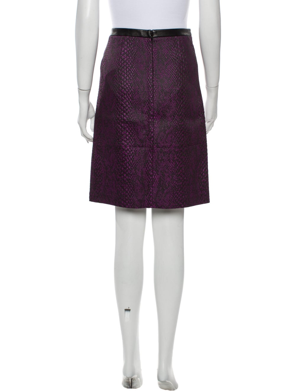 Tibi Knee-Length Skirt Purple - image 3