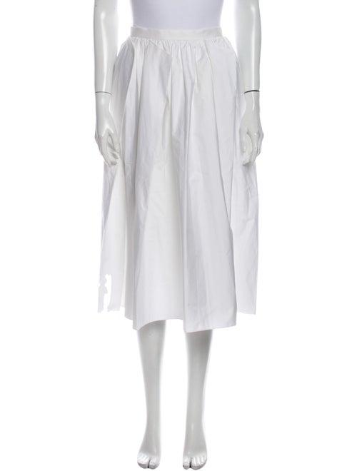 Tibi Pleated Accents Midi Length Skirt