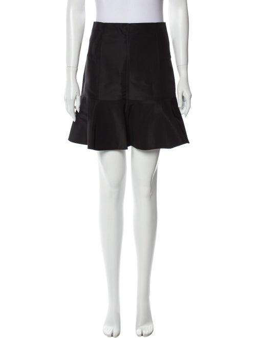 Tibi Silk Mini Skirt Black - image 1