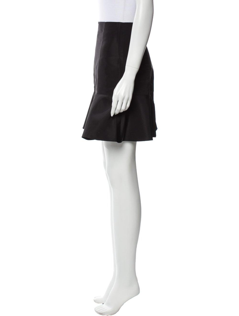 Tibi Silk Mini Skirt Black - image 2