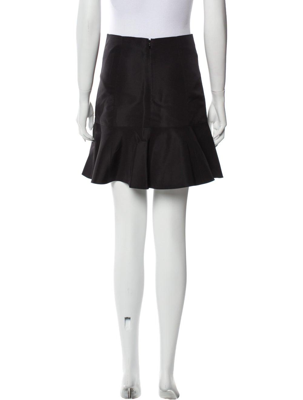Tibi Silk Mini Skirt Black - image 3