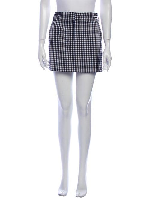 Tibi Plaid Print Mini Skirt Black - image 1